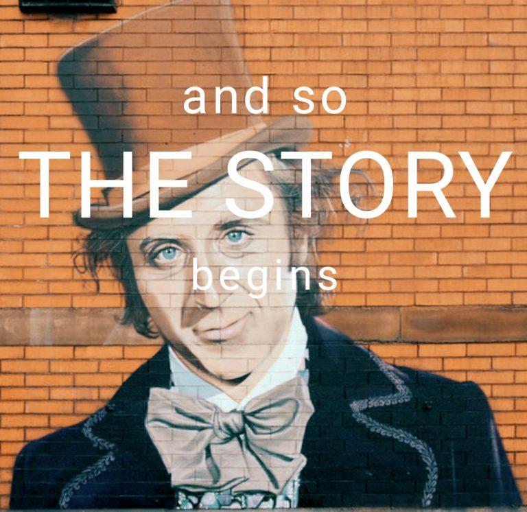 storytelling con willy wonka